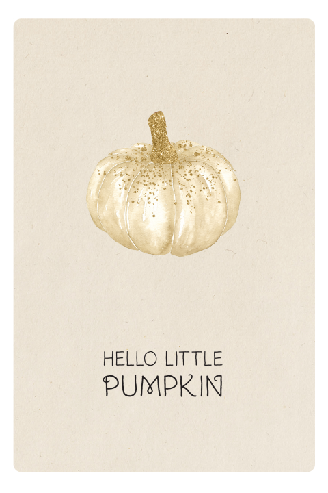 felicitatie geboorte Hello little pumpkin wit