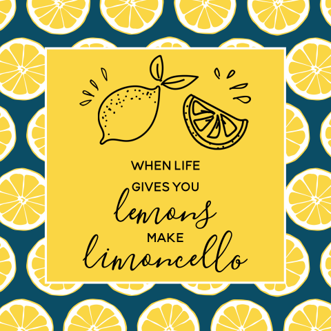 When life gives you lemons make limoncello