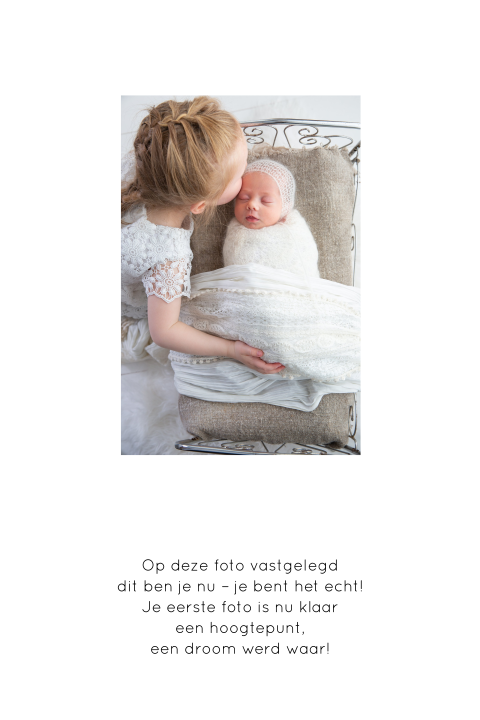 meisjesgeboortekaartje met huisje Welcome Little One