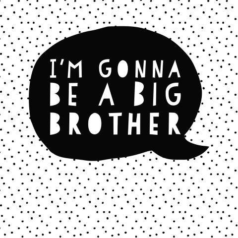 zwangerschapsaankondiging - I'm gonna be a big brother