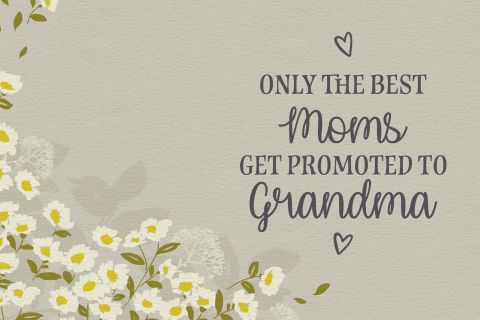 zwangerschapsaankondiging -  only the best moms get promoted